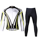 Ilpaladin Sport Men Long Sleeve Cycling Jerseys Suit CT707  Yellow Dazzle