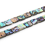Beadia 12x12mm Square Natural Abalone Sea Shell Beads (38cm/approx 32pcs)