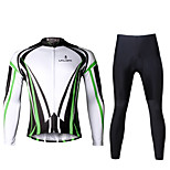 Ilpaladin Sport Men Long Sleeve Cycling Jerseys Suit CT710 Green Dazzle