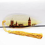 Uk Big Ben Elizabeth Tower Leaf Vein Bookmark Famous British Architect Souvenir Postcards Wholesale Plastic Card