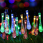 Solar Christmas Lights Water Drop 13ft 20 LED Waterproof Solar Light String Outdoor for Gardens,Wedding,Christmas Tree
