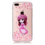 Dream Girl Pattern Material Acrylic  TPU Phone Case For iPhone 7 7Plus 6S 6Plus SE 5S 5