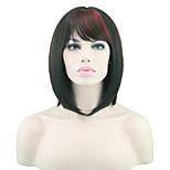 High Temperature Wire Straight Hair Black Hair Wigs Female Red
