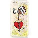 Chocolate Back Flowing Quicksand Liquid/Printing Pattern PC Hard Case For iPhone 6s Plus/6 Plus/6s/6/SE/5s/5