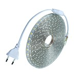 18M/1PCS  220V 5050 LED Flexible Tape Rope Strip Light Xmas Outdoor Waterproof   Garden outdoor lightingEU Plug EU