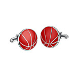 Cufflinks 2pcs,Solid Red Fashionable Cufflink Men's Jewelry