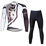 Ilpaladin Sport Men Long Sleeve Cycling Jerseys Suit CT617 White Machinery