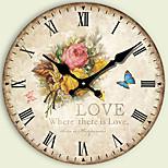 Modern/Zeitgenössisch Anderen Wanduhr,Kreisförmig Anderen 34*34*3cm Drinnen Uhr