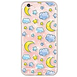 Cartoon Moon and Star Pattern TPU Ultra-thin Translucent Soft Back Cover for Apple iPhone 6s 6 Plus SE 5s 5