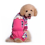 Cat / Dog Coat / Outfits / Clothes/Jumpsuit Blue / Pink Dog Clothes Winter / Spring/Fall Color Block Holiday / Fashion / Keep Warm