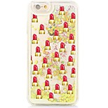 Lipsticks Flowing Quicksand Liquid/Printing Pattern PC Hard Back Cover For iPhone 6s Plus/6 Plus/6s/6/SE/5s/5