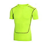 Sports Bike/Cycling Tops Men's Short Sleeve Breathable / Quick Dry / Comfortable Nylon / Chinlon Classic White / Green
