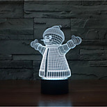 Christmas Snowman Touch Dimming 3D LED Night Light 7Colorful Decoration Atmosphere Lamp Novelty Lighting Christmas Light