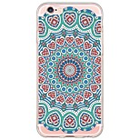Para Funda iPhone 6 / Funda iPhone 6 Plus Ultrafina / Traslúcido Funda Cubierta Trasera Funda Mandala Suave TPU AppleiPhone 6s Plus/6