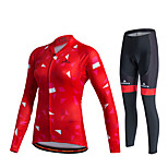 Miloto® Cycling Jersey with Tights Women's / Unisex Long Sleeve BikeBreathable / Quick Dry / Moisture Permeability / 3D Pad /