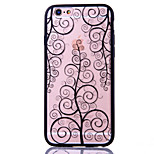 Für iPhone 6 Plus Hülle Muster Hülle Rückseitenabdeckung Hülle Blume Hart Acryl Apple iPhone 6s Plus/6 Plus / iPhone 6s/6 / iPhone SE/5s/5