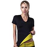Hot Shapers Women Neoprene Slimming Traning T-Shirts Sweating Shapewear