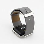 Genuine Leather Strap Wrist Watch Band Bracelet Clips For Fitbit Blaze Tracker