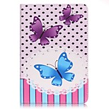 Full Body Card Holder / Wallet Blue Purple Butterfly PU Leather Hard Case Cover For Apple iPad Mini 4 / iPad Mini 3/2/1