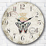 1PC European-Style  Wooden   Wall Clock Bedroom Clock  (Pattern is Random)