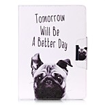 Dog Pattern Wake Up PU Leather Flip Full Body Case for iPad mini123 iPad mini 4