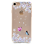 For Pattern Case Back Cover Case Butterfly Soft TPU for Apple iPhone 7 Plus iPhone 7 iPhone 6s Plus/6 Plus iPhone 6s/6