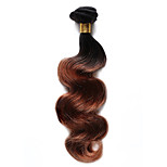 1PC TRES JOLIE Body Wave Human Hair 10-18Inch Ombre Two Tones Black Auburn T1B/30 Human Hair Weaves