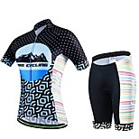 Sports Cycling Jersey with Shorts Women's / Men's / Unisex Short Sleeve BikeBreathable / Quick Dry / Wearable / Compression / 3D Pad /