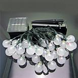 1pc 6m 30 led solar home kerst buitenshuis te versieren lichtslingers
