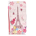 Tower Pattern Perspective Shiny Glare Material PU Leather Card Holder for  iPhone 7 7 Plus 6s 6 Plus SE 5s 5