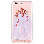 Für iPhone 6 Hülle / iPhone 6 Plus Hülle Ultra dünn / Durchscheinend Hülle Rückseitenabdeckung Hülle Sexy Lady Weich TPU AppleiPhone 6s