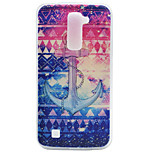Anchor Pattern TPU Material Phone Case for LG K10