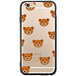 Transparent/Pattern Tile Bear TPU Soft Case For Apple iPhone 6s Plus/6 Plus/iPhone 6s/6/iPhone SE/5s/5