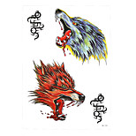 1pc Temporary Tattoo Howl Wolf Head Rune Sexy Product Design Women Men Body Art Waterproof Tattoo Sticker HB-330