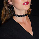Necklace Choker Necklaces Jewelry Party / Daily / Casual Sexy / Fashion Lace Black 1pc Gift