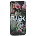 Letter Flower Pattern Material TPU Phone Case For iPhone 7 7 Plus 6s 6 Plus SE 5s 5