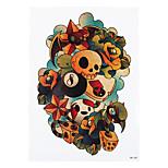1pc Decal Geometry Koakuma Dice Flower Skull Design Temporary Beauty Women Men Body Art Tattoo Sticker HB-258