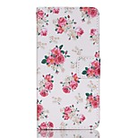 Full Body Card Holder / Wallet / Flip / Pattern Flower PU Leather Hard Case Cover For Lenovo Lenovo A6000