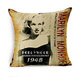 Nordic Star Marilyn Monroe Retro Cotton Sofa Cushion Pillow Pillow Soft Loading Bay Window