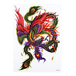 1pc Beauty Diy Decal Temporary Tattoo Phoenix Design Women Men Body Art Waterproof Tattoo Sticker HB-331