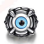 Mens Rings Punk Stainless Steel Blue Dragon Evil Eye Band Ring Vintage Men Jewelry World of Warcraft aneis
