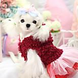 Hunde Kapuzenshirts / Kleider Rot / Purpur Hundekleidung Winter Blumen / Pflanzen warm halten / Modisch