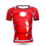 Sports Bike/Cycling Tops Men's Short Sleeve Breathable / Quick Dry / Comfortable LYCRA Classic Red Free SizeExercise