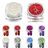 8pcs Fashion Sparking Slice Glitter Polish Tips Nail Art Decorations New DIY Beauty Girl Makeup Nail Powder Dust SN25-32