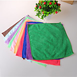 Practical Small Wash Up Square Towel Ultrafine Fiber Multi-function Random Colour