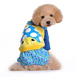 Dog Clothes/Jumpsuit Dog Clothes Winter Spring/Fall Cartoon Cute Casual/Daily Rose Blue