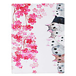 Cat Painted PU Leather Material Flat Bracket for iPad 234