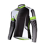 Sports® Cycling Jersey Men's Long Sleeve Breathable / Quick Dry / Back Pocket Bike Jacket 100% Polyester SolidSpring / Fall/Autumn /
