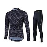 Fastcute® Maglia con pantaloni da ciclismo Per donna / Per uomo / Unisex Maniche lunghe BiciclettaTraspirante / Asciugatura rapida /