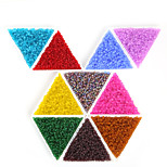 Beadia 6/O Frosted Glass Seed Beads 4mm Round Glass Spacer Loose Beads(30g-approx 300pcs)